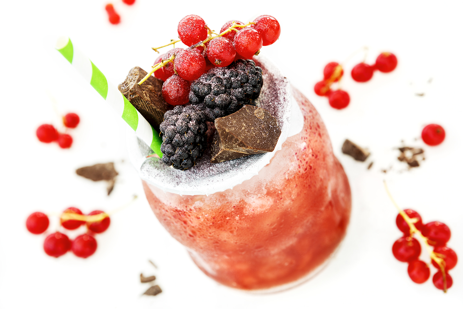 drink with fruits